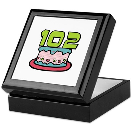 102nd Birthday Cake Keepsake Box