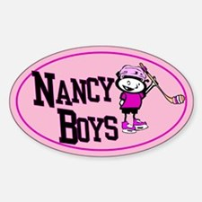 Oval Sticker. Nancy Boys Ice Hockey Team.
