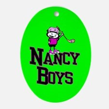 Christmas Oval Ornament. Nancy Boys