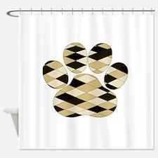 Dog Paw Art Shower Curtain