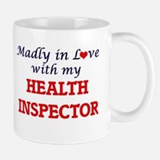 Madly in love with my Health Inspector Mugs