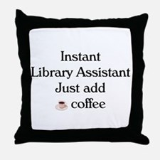 Library Assistant Throw Pillow