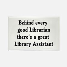 Library Assistant Rectangle Magnet (10 pack)