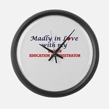Madly in love with my Higher Educ Large Wall Clock