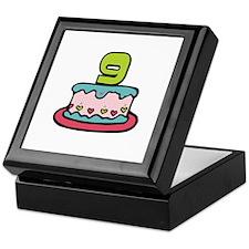 9th Birthday Cake Keepsake Box