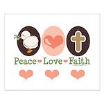 Peace Love Faith Christian Small Poster