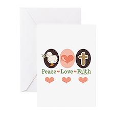 Peace Love Faith Christian Greeting Cards (Pk of 1