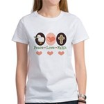 Peace Love Faith Christian Women's T-Shirt