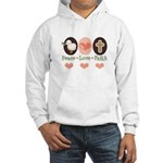Peace Love Faith Christian Hooded Sweatshirt