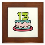 13th Birthday Cake Framed Tile