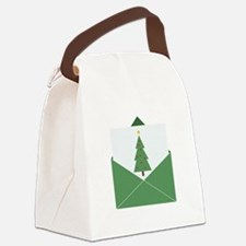 Christmas Card Canvas Lunch Bag