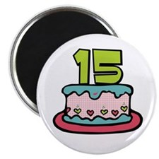15th Birthday Cake Magnet