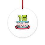 16th Birthday Cake Ornament (Round)