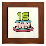 16th Birthday Cake Framed Tile