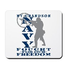 Grndson Fought Freedom - NAVY  Mousepad