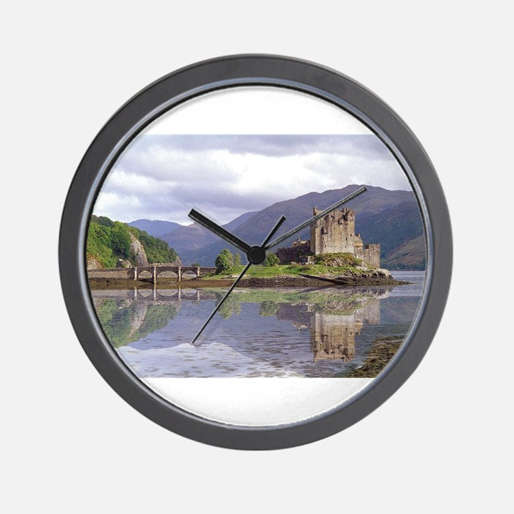 Cute Scottish castle Wall Clock