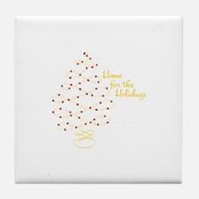 Home For Holidays Tile Coaster