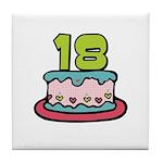 18th Birthday Cake Tile Coaster