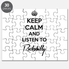Keep calm and listen to Rockabilly Puzzle