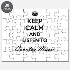 Keep calm and listen to Country Music Puzzle