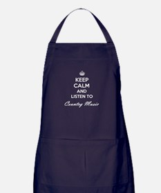 Keep calm and listen to Country Music Apron (dark)