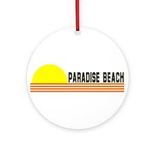 Paradise Beach, Greece Ornament (Round)