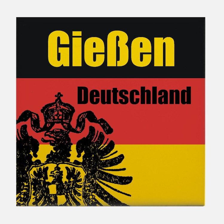 Gießen Deutschland Tile Coaster