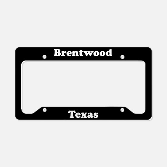 Brentwood TX - LPF License Plate Holder