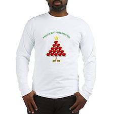 Happy Hockey Holidays Long Sleeve T-Shirt