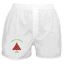 Happy Hockey Holidays Boxer Shorts