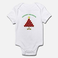 Happy Hockey Holidays Infant Bodysuit