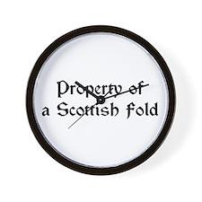 Property of A Scottish Fold Wall Clock