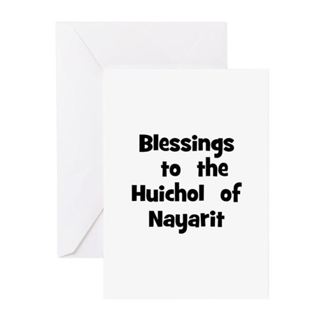Blessings to the Huichol Greeting Cards (Pk o