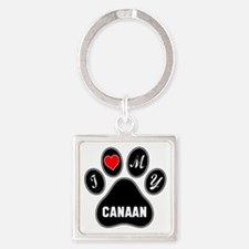 I love my Canaan Dog Square Keychain