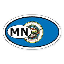 Minnesota State Flag Oval Decal