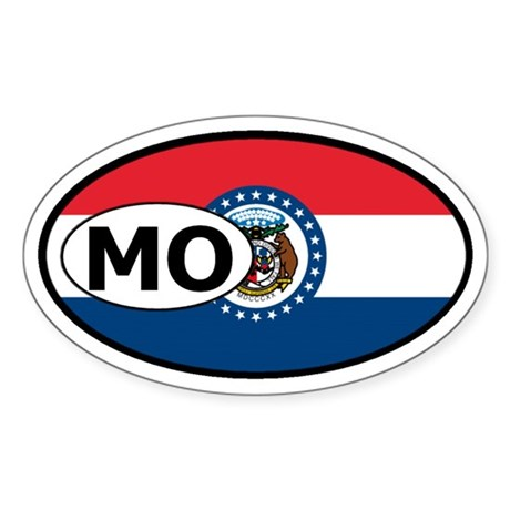 Missouri State Flag Oval Sticker