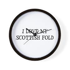I Love My Scottish Fold Wall Clock