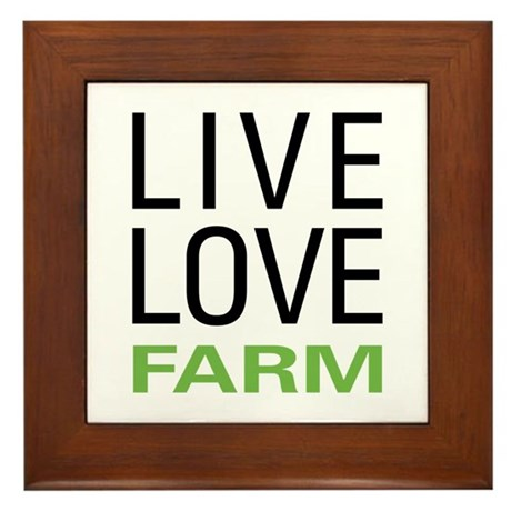 Live Love Farm Framed Tile