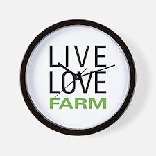 Live Love Farm Wall Clock