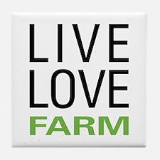 Live Love Farm Tile Coaster