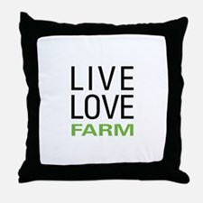 Live Love Farm Throw Pillow