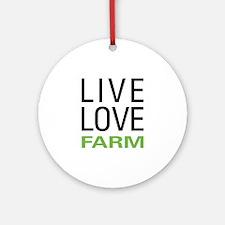 Live Love Farm Ornament (Round)