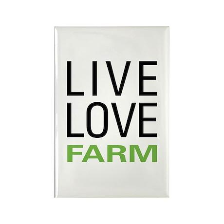 Live Love Farm Rectangle Magnet (10 pack)