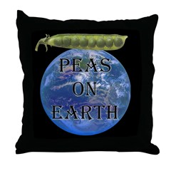 Peas on Earth Throw Pillow