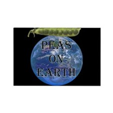 Peas on Earth Rectangle Magnet