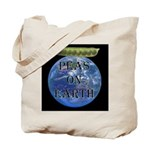 Peas on Earth Tote Bag