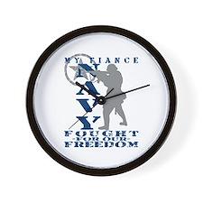 Fiance Fought Freedom - NAVY  Wall Clock