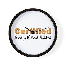 Certified Scottish Fold Addict Wall Clock