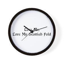 Love My Scottish Fold Wall Clock