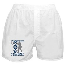 Father-n-Law Fought Freedom - NAVY  Boxer Shorts